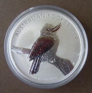 Australien 1 Unze Silber Kookaburra 2010 Stempelglanz