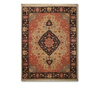 "9' x 11'10"" Hand Knotted Romanian Tabrizz Wool Oriental Area Rug Black"