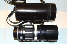 MINOLTA ROKKOR-QF 200 mm f:3.5 TELEPHOTO LENS & CASE & CAPS NICE!