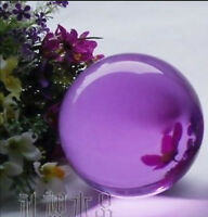 40mm Asia rare and beautiful crystal ball, purple crystal ball + Stand g8