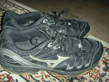Mizuno Wave Rally 2  Volleyball Shoes Black Silver Womens Size 9