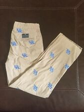 EUC Pennington & Bailes University of Kentucky UK Khaki Stadium Pants Size 30