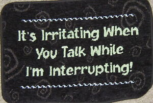 It's irritating when you talk, S 361 Tapestry Cotton Fabric, Pillow