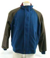 Pendleton Lobo Vintage Men's Full Zip Jacket Size Large Blue Brown (moth marks o