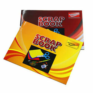 A3 Scrapbook 64 Pages 100gsm Coloured Scrap Book For Art And Craft