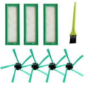 3x Filtro per Vorwerk Folletto vr200 vr300 RICAMBI 3 Hepafilter SPAZZOLE LATERALI