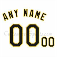 Pittsburgh Pirates Customized Number Kit for 1990's White Jersey