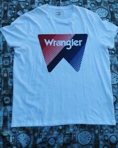 BNWT Mens Wrangler Size XX Large White Mix Logo  T- Shirt