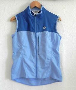 Pearl Izumi Cycling Vest Multi-Blue Full Zip Zip Pockets High Neck Size M