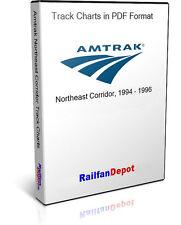 Amtrak Northeast Corridor Track Charts 1996 - PDF on CD - RailfanDepot