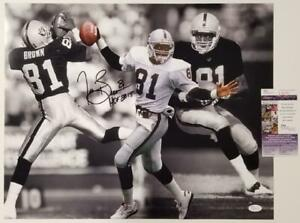 "Tim Brown ""HOF 2015"" inscription autograph Raiders signed 16x20 Photo  ~ JSA COA"