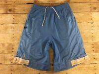 Air Jordan Long Basketball Shorts Mens Medium Baggy Loose Carolina Blue Mesh