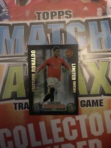 Cristiano Ronaldo Limited Edition Match Attax Card 2007/08