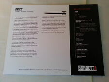 Barrett Rec7 Data Sheet / New