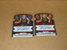 TYLER CAVANAUGH AUTOGRAPH/AUTO LOT OF 2 HAWKS PANINI CROWN ROYALE L234