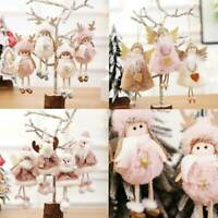 Christmas Ornaments Santa Claus Snowman Toy Angel Doll Hanging Decorations Gift