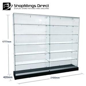 X Large Glass Cabinet Display Show Case LED Lights Floor Standing 2100mm FVU2000