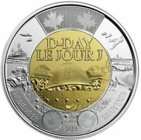 D-Day Anniversary Toonie 🏅 Canada 2 Dollars Coin Special Non-Coloured UNC 2019