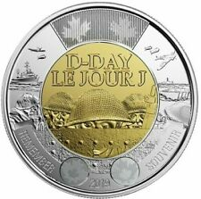 D-Day Anniversary Toonie Canada 2 Dollars Coin Special Non-Coloured UNC 2019