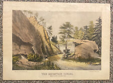 The Mountain Spring Cozzen's Dock West Point Vintage Currier & Ives Print 17X12