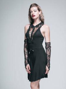 kurzes ärmelloses Jersey-Kleid Gothic Burlesque victorian skirt
