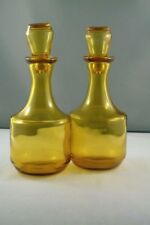 2 Bronze glass 70's vinegar containers in good condition