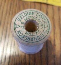 1 Empty Vintage Wood Sewing spool BELDING CORTICELLI crafts collectible (#1545)