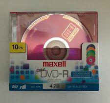 dvd r blank discs.10 pack. Maxwell. 120min