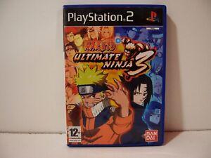 Naruto Ultimate Ninja 3 Sony Playstation 2 PS2 Pal