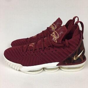 "Nike LeBron 16 ""King"" Team Red/Metallic Gold AO2588-601 Men's Sz 13 New, No Lid"