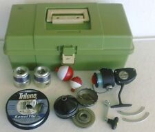 Plano Molded Plastic Fishing Tackle Box with Assorted Gear – Reels,Spools-Floats