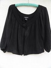 Karen Kane Shrug Sweater Misses XL Black 100% Cotton Elastic Sleeve Edge