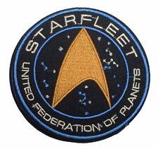 "Star Trek Starfleet UFP Command 3 1/2"" Diameter EMBROIDERED IRON/SEWN ON PATCH"