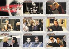 BATTLESTAR GALACTICA PREMIERE EDITION 2005 RITTENHOUSE BASE CARD SET OF 72 TV