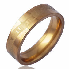 Authentic Men's Band Ring Yellow Gold Plate Free shipping Size 9 Girls Gifts