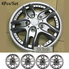 12 Inch 4pcs/set Car Vehicle Wheel Rim Skin Cover Hubcap Wheel Sliver Covers