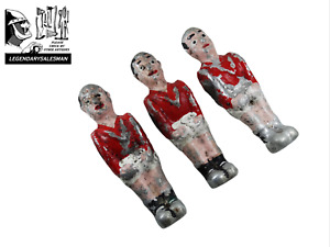 LOT OF THREE 1920´S FOOSBALL TABLE SOCCER MAN PLAYERS COMPETITION