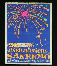 DESTINAZIONE SANREMO manifesto poster Musica Festival Modugno Nilla Pizzi Villa
