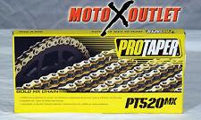 Pro Taper 520MX Chain 520 MX 120 Links GOLD 125c 250 350 450 RMZ CRF KXF YZF KTM
