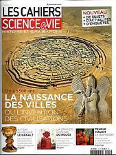 LES CAHIERS DE SCIENCE&VIE n°155 août 2015  Naissance des villes/ Graal/ Néron