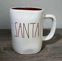 RAE DUNN Christmas Mugs Santa With Red  Inside The Mug*FREE SHIPPING*