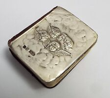 Antico Inglese 1910 Solido Argento Finissimo Cherubini Angeli fronte LIBRO di preghiera