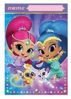 SHIMMER & SHINE LOOT BAGS PACK OF 8 BIRTHDAY PARTY SUPPLIES