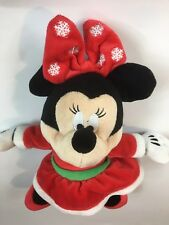 Disney Small Minnie Mouse toy plush doll Christmas RED Snowflake Bow High Heels