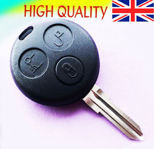 For Smart Car 3 Button Remote Key Fob Case City Roadster Fortwo Forfour Coupe
