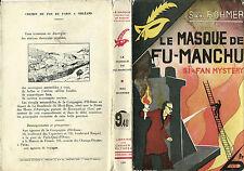 RARISSIME EO 1933 SAX ROHMER + LE MASQUE N° 139 : LE MASQUE DE FU-MANCHU