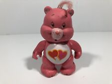 "Love A Lot Care Bear 1983 PVC Toy 3 1/2"" Figure Pink with Hearts Poseable"