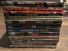 ROH Ring of Honor 2013 & 2014 LOT 16 DVDS RARE OOP WWE WWF NJPW AEW TNA PWG ECW