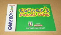 Conker's Pocket Tales (Instruction Manual Only) for Nintendo Game Boy Color