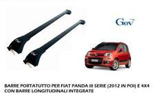 BARRE PORTATUTTO PORTABAGAGLI GEV PREMONTATE FIAT PANDA DAL 2012 3 SERIE